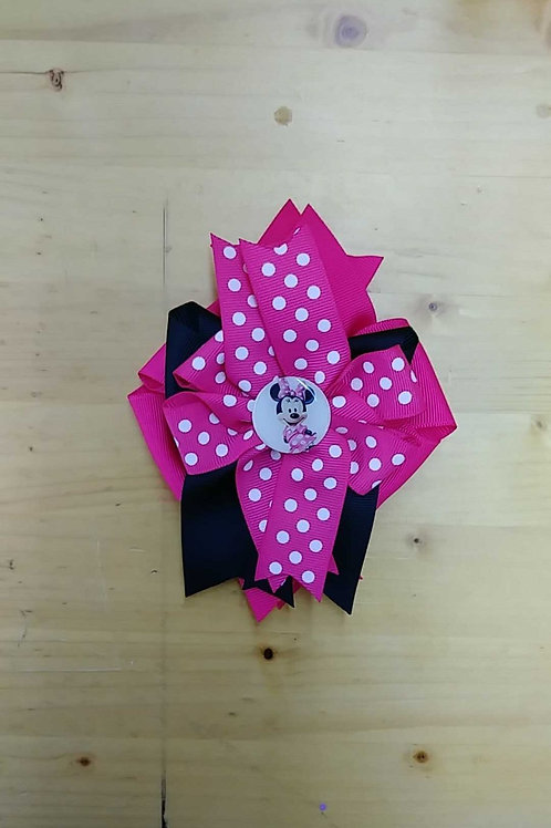 Minnie Mouse hairbow clip