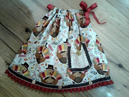 Thanksgiving Turkey pillowcase dress