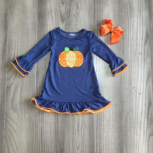 Blue Pumpkin dress/bow