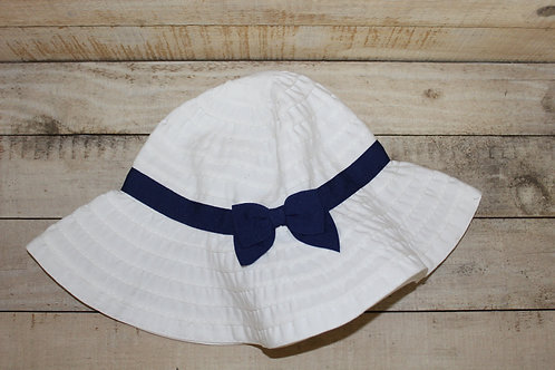 Baby Girl Sun Hat Blue Bow