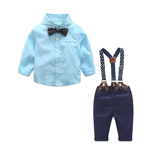 Navy Baby Suspender Set