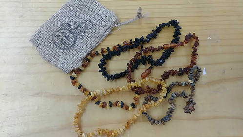 Raw Amber Teething Necklaces