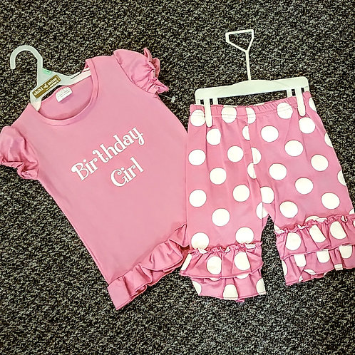 Pink birthday girl size 2t/3t