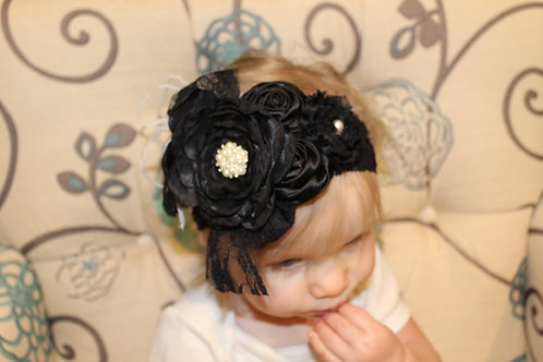 Black Formal Hairbow