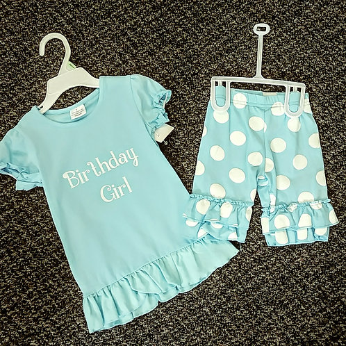Blue birthday girl set 18-24 month