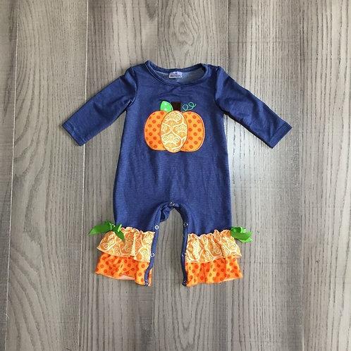 Pumpkin Ruffle Romper