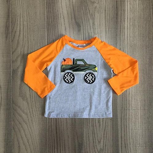 Pumpkin Camo Truck Shirt