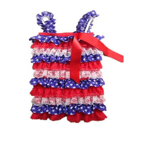 4th of July Lace Romper