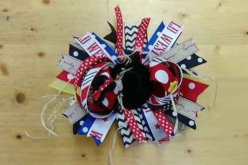 Wild West Derby hairbow
