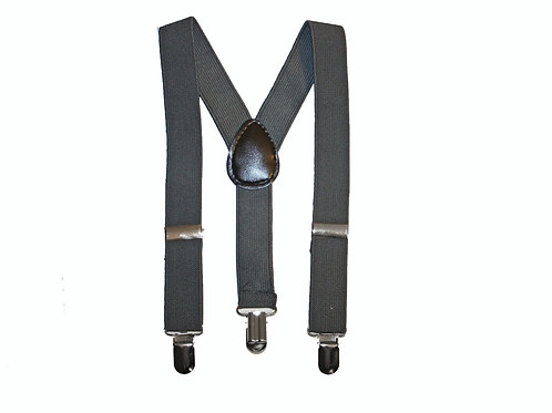 Dark Grey Suspenders