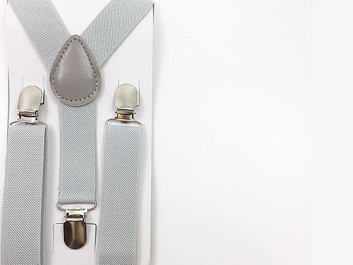 LIght grey Suspenders