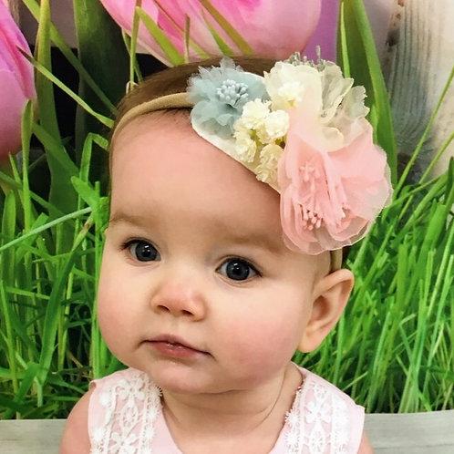 Pink, gray Headband - Sadi