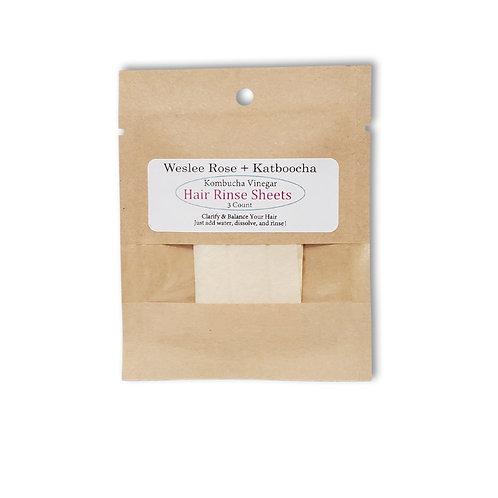 Kombucha Vinegar Hair Rinse Sheets
