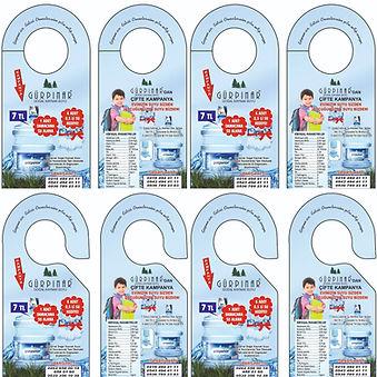 Kapı Askısı Broşürü Fiyatları (8,5x18,5 cm)