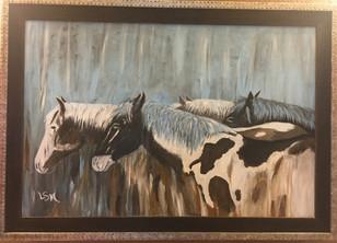 Four Horses 24 x 36