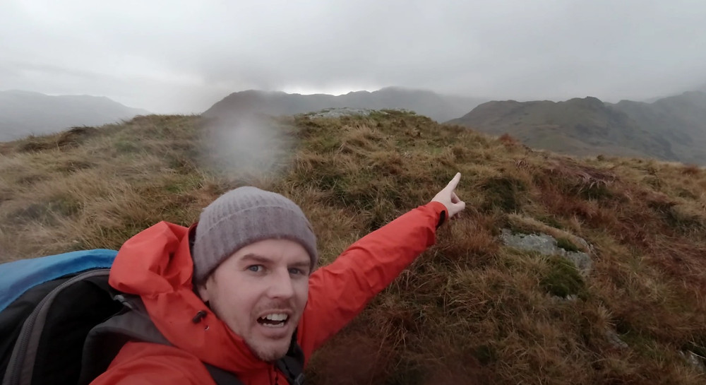 Gareth Danks in Snowdonia, North Wales. Photography in bad weather