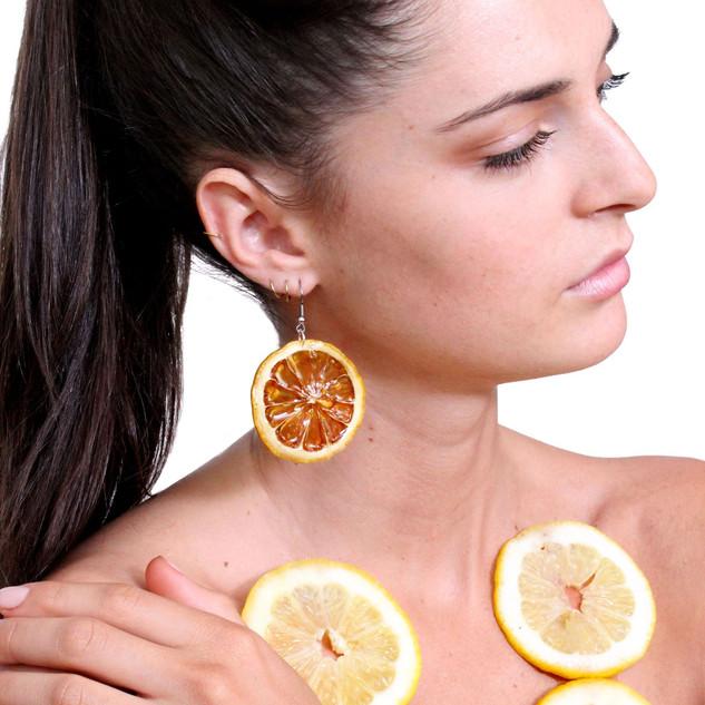 Real Fruit Jewelry - Lemon Earrings