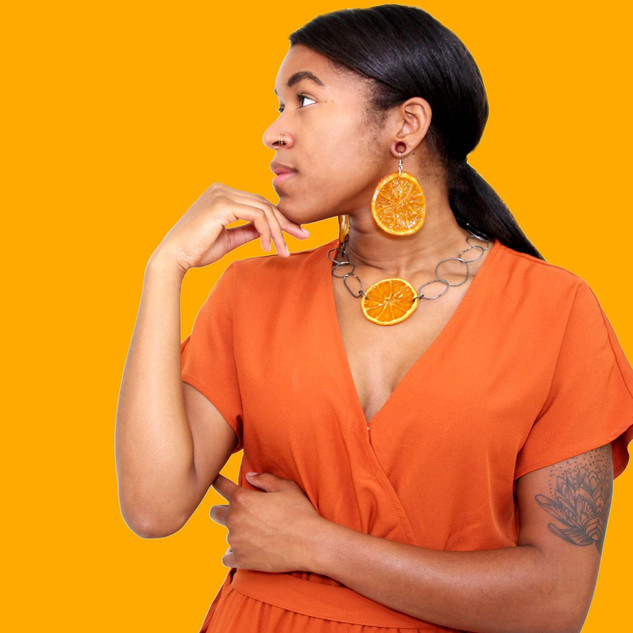 Orange Earrings Fall Collection