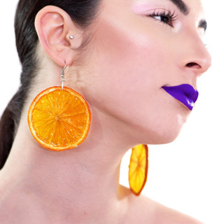 Real Fruit Orange Earrings