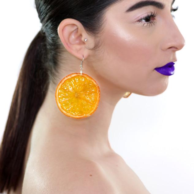Mind Slice_Orange Earrings