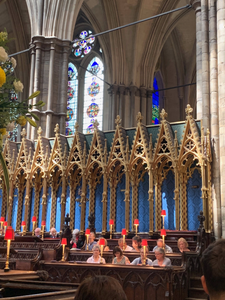 "quire (pronounced ""choir"") of Westminster Abbey,"