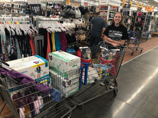 Gathering items for children and pets