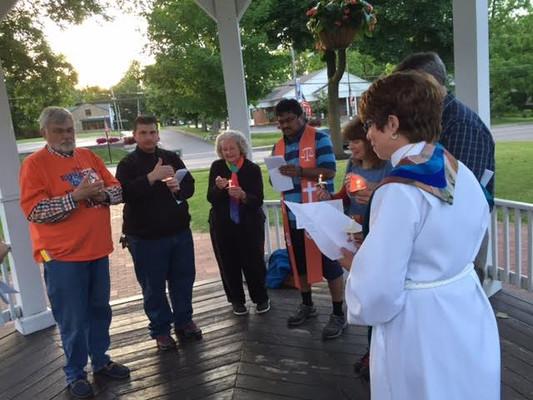 Vigil in Harry Allen Park