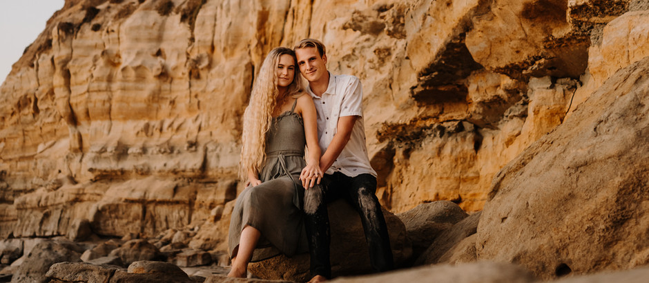 Engagement photography at the beach