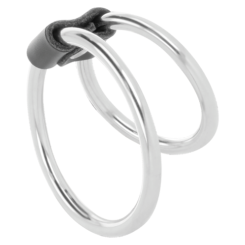Darkness Double Metal Cock Ring