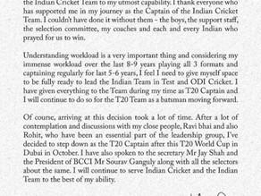 Virat Kohli's last T20 World Cup as a captain in Dubai