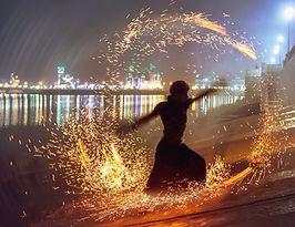 Performer fogo