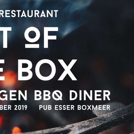 Taste of Smoke presenteert: OUT OF THE BOX - POP UP restaurant!