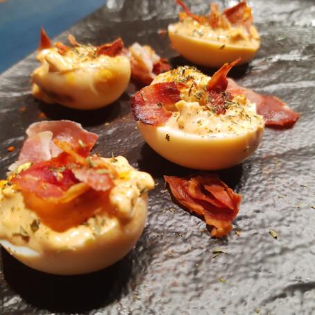 Smoked Devil Eggs