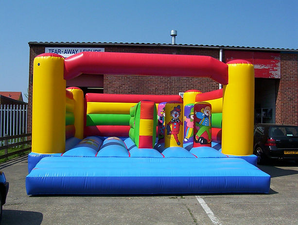 18 x 21 clowns goal post bouncer activit