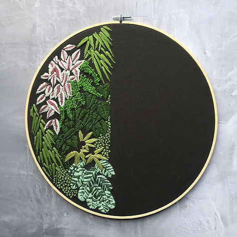 Green Wall Embroidery