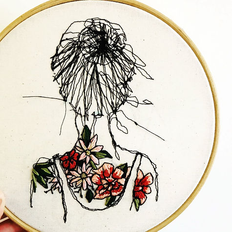 Tattoo Lady Embroidery
