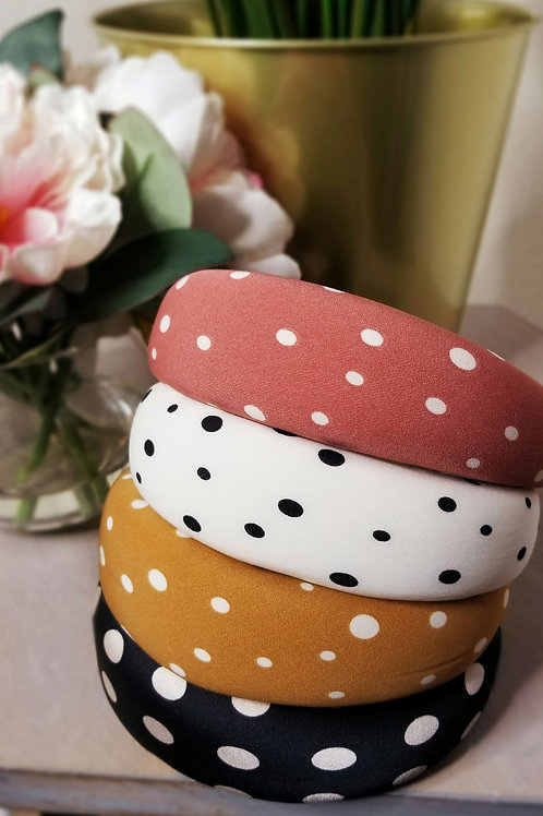 Polka-dot headband