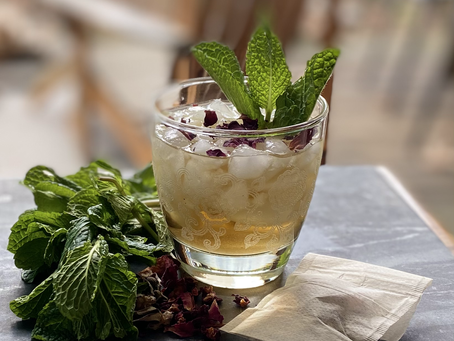 Rosa Mint Julep with Calm + Collect Tea