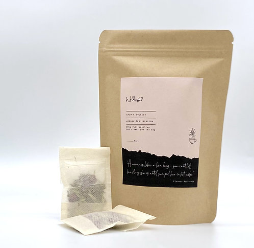 Calm + Collect - herbal tea infusion 20mg CBD (subscriptions available)