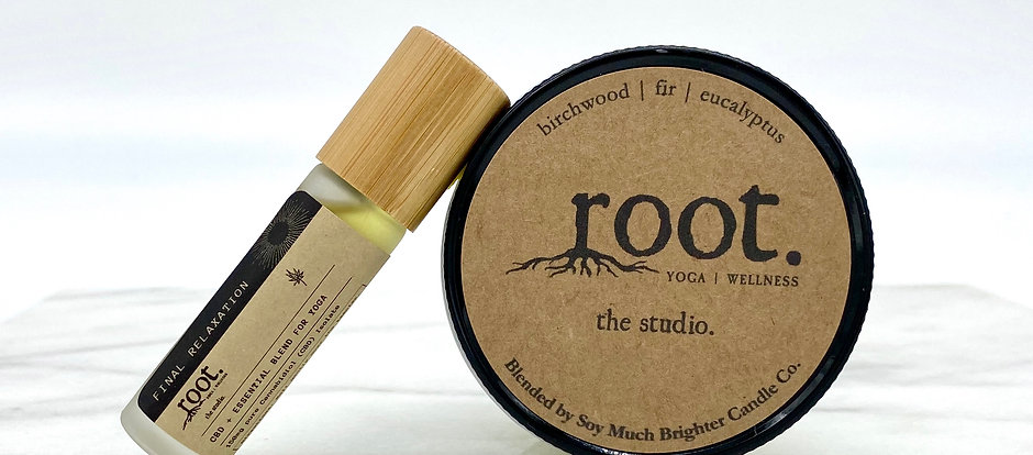 Final Relaxation roller + soy candle bundle