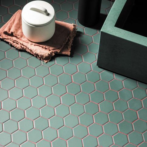 Hexa-Forest-Green-Matt-Hexagon-Porcelain
