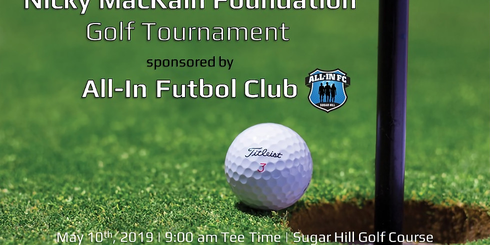 Nicky MacKain Annual Golf Tournament - REGISTRATION IS NOW CLOSED!  Donations still being accepted