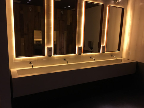 Commercial project - custom vanitiy
