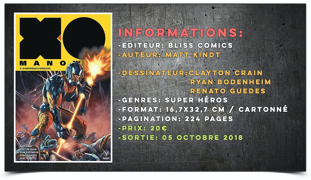 X-O Manowar Bliss Éditions Bliss Comics Valiant Thomas_LADP_ILB