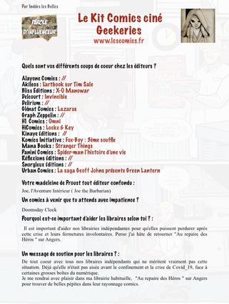 Parole d'influenceur #31 Le kit Comics.p