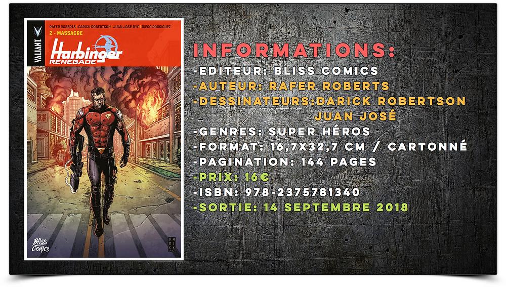 Harbinger Renegade Bliss Éditions Bliss comics Valiant