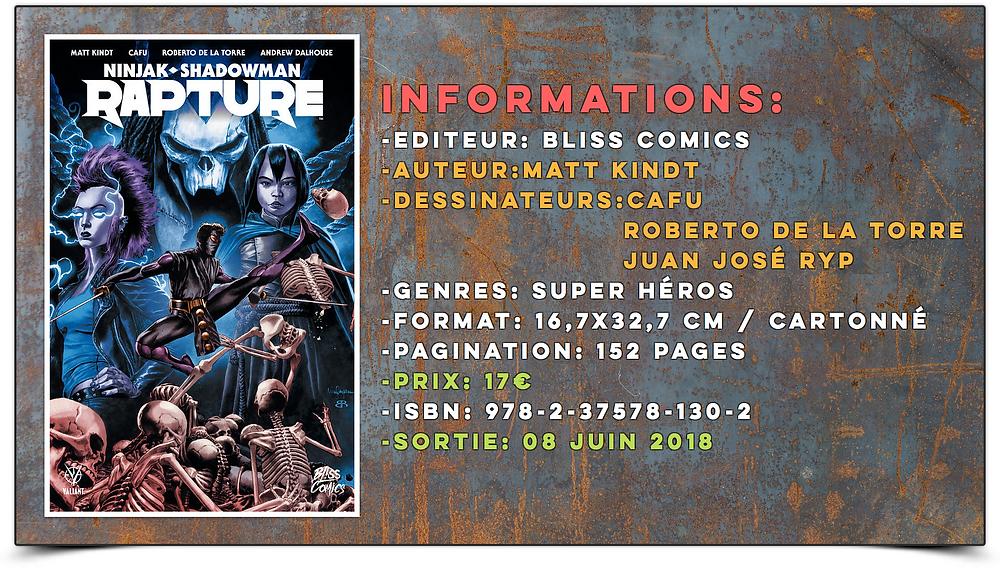 Rapture Bliss comics Bliss Éditions Valiant