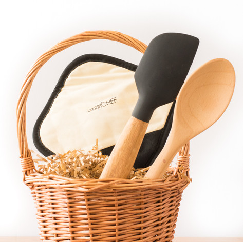 Bamboo Utensils and Potholder