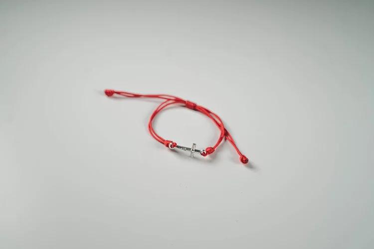 Cord Cross Bracelet