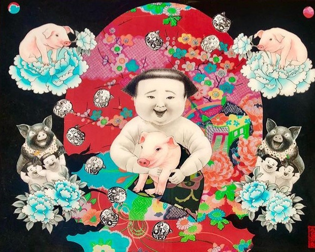 Happy Lucky Year of the Pig